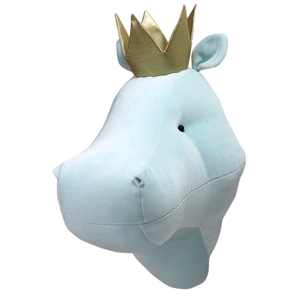 Mint hippo with a crown