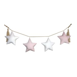 White and pink garland