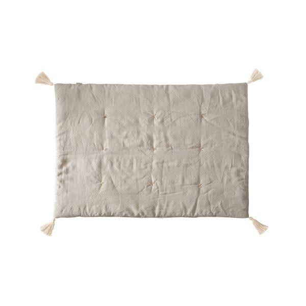 Linen mat beige