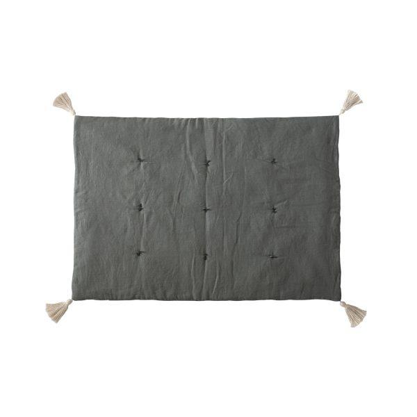 Linen mat grey