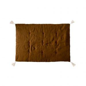 Linen mat mustard