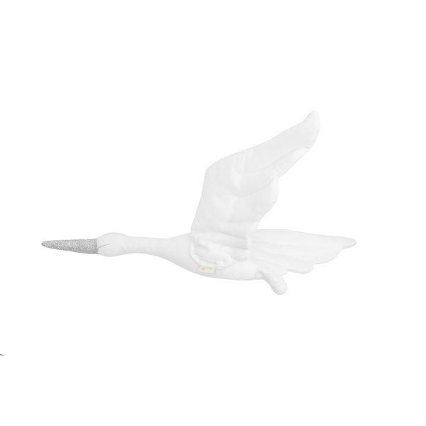 Stork velvet white