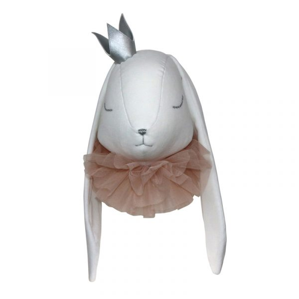 Velvet rabbit with a crown and a pouder collar