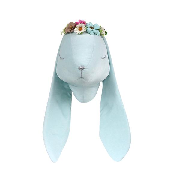 Mint velvet rabbit with wreath