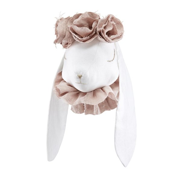 Linen rabbit with pouder flowers