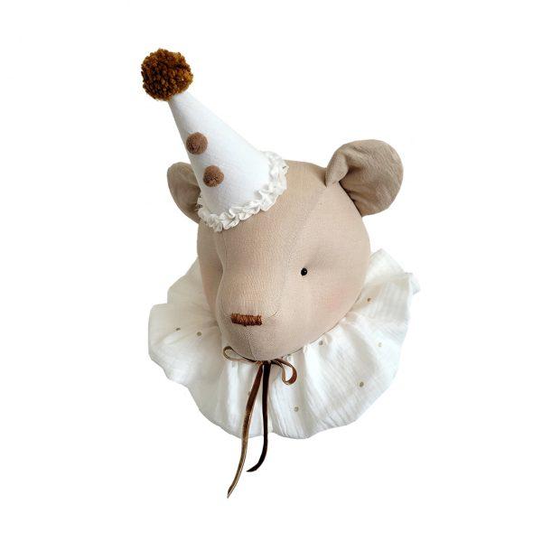 Bear beige with cream collar